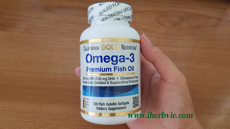 Nắp hộp Omega-3 California Gold Nutrition